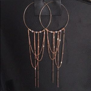 Free People Copper Smokeshow Hoop Earrings